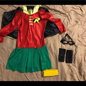 Rubies girls robin costume NEW Sz: L 12/14
